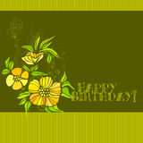 Cute spring floral background Stock Images