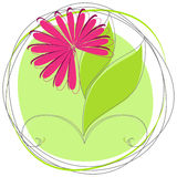 Cute spring floral badge Stock Photos