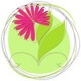 Cute spring floral badge Stock Photos