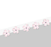 Cute spring flower background royalty free illustration
