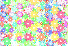 Cute Spring Flowers Abstract Royalty Free Stock Photo