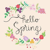 Cute spring frame Stock Photo