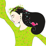 Cute spring girl Royalty Free Stock Images