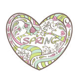 Cute spring heart Stock Image