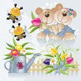 Cute spring set 2 Stock Photography