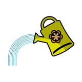 Cute sprinkler garden icon Royalty Free Stock Images