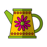 Cute sprinkler garden icon Stock Image