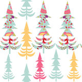 Cute spruce tree  simple  seamless pattern and seamless pattern Stock Photography
