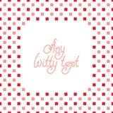 Cute square background stock illustration