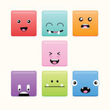 Cute Square Monster Royalty Free Stock Photos