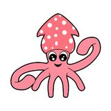 Cute Squid Stock Photos