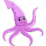 Cute squid cartoon Royalty Free Stock Image