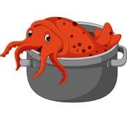 Cute squid cartoon Stock Images