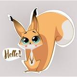 Cute squirrel cartoon Royalty Free Stock Photography