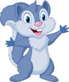 Cute squirrel cartoon posing Stock Photos