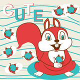 Cute Squirrel Royalty Free Stock Photos