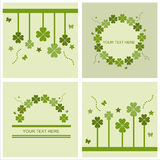 Cute St. Patrick S Day Cards Stock Photography