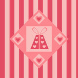 Cute st. valentine's day presents background Royalty Free Stock Photography
