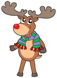 Cute standing Christmas elk. Vector illustration Royalty Free Stock Photography