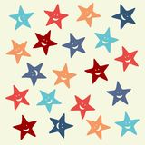 Cute star pattern Stock Photo
