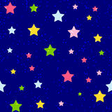 Cute Star Seamless Pattern Background Vector Stock Photos