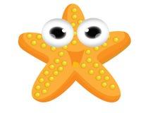 Cute starfish cartoon Stock Photos
