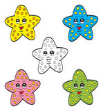 Cute starfish. An illustration of cute cartoon colorful starfish Royalty Free Stock Photo