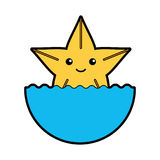 Cute starfish isolated icon. Vector illustration design Royalty Free Stock Photography