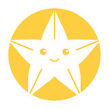 Cute starfish isolated icon. Vector illustration design Stock Image