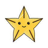 Cute starfish isolated icon. Vector illustration design Royalty Free Stock Image