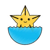 Cute starfish isolated icon. Vector illustration design Stock Photo