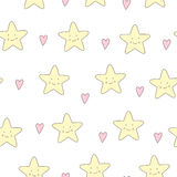 Cute starfish vector seamless background Royalty Free Stock Image