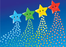 Cute stars Stock Image