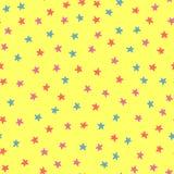 Cute stars. Festive seamless pattern for children. Stock Photo