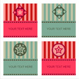 Cute stars frames Royalty Free Stock Images
