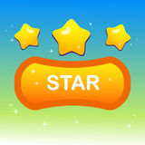 Cute stars on shape text box and blink stars Stock Photo