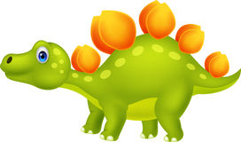 Cute stegosaurus cartoon Royalty Free Stock Photos