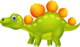 Cute stegosaurus cartoon. Illustration of cute stegosaurus cartoon Royalty Free Stock Photos