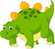 Cute stegosaurus cartoon Royalty Free Stock Images