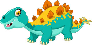 Cute stegosaurus cartoon Stock Photos