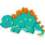 Cute stegosaurus cartoon Royalty Free Stock Images