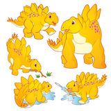 Cute Stegosaurus cartoon Stock Photo
