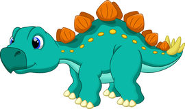 Cute stegosaurus cartoon Royalty Free Stock Photo