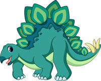 Cute stegosaurus cartoon Stock Image