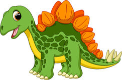 Cute stegosaurus cartoon. With white background Stock Images