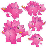 Cute Stegosaurus pink Royalty Free Stock Images