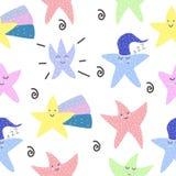 cute Stelle motivazione Stile scandinavo cartolina Progettazione luminosa dei bambini s illustrazione di stock