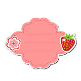 Cute sticker label, frame for text. Kids tag for text. Scribbled notebook page .vector illustration Royalty Free Stock Photos