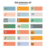Cute Stickers for Calendar or Planners. Royalty Free Stock Images