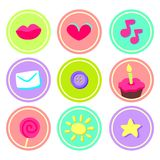 Cute stickers for scrapbooking Stock Photography
